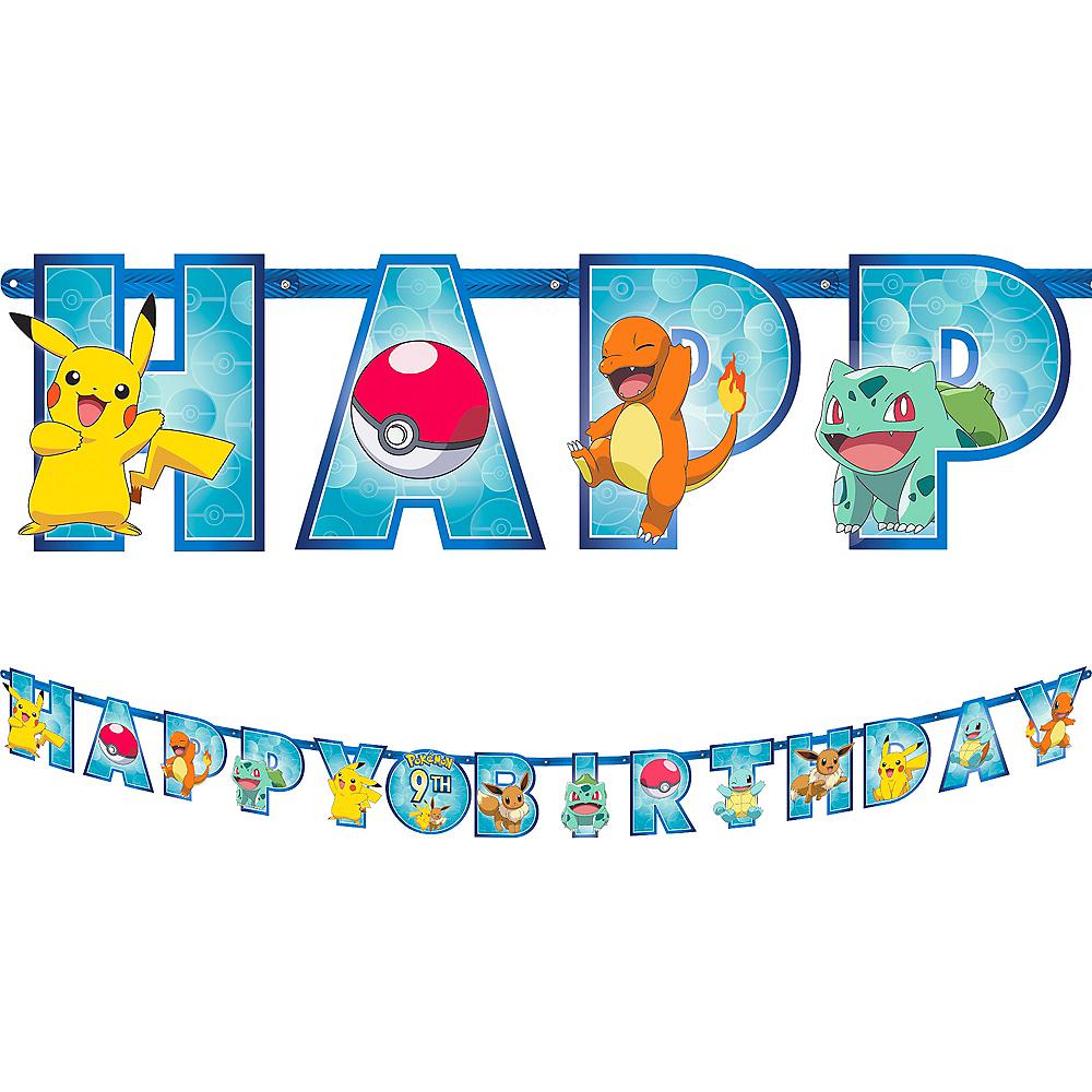 Classic Pokémon Birthday Banner Image #1