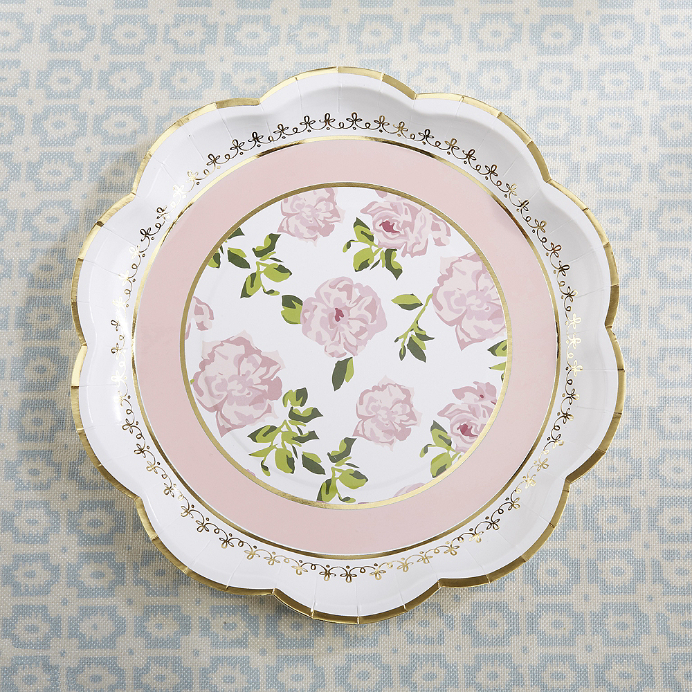 Tea Time Lunch Plates 32ct Image #1