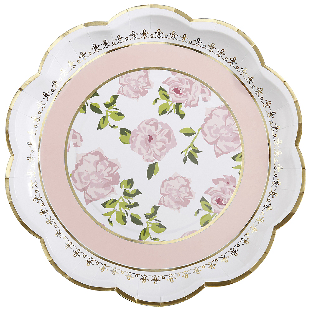 Tea Time Lunch Plates 32ct Image #2