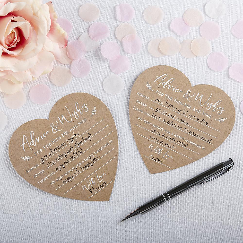 Rustic Heart Wedding Advice Cards 50ct Image #1