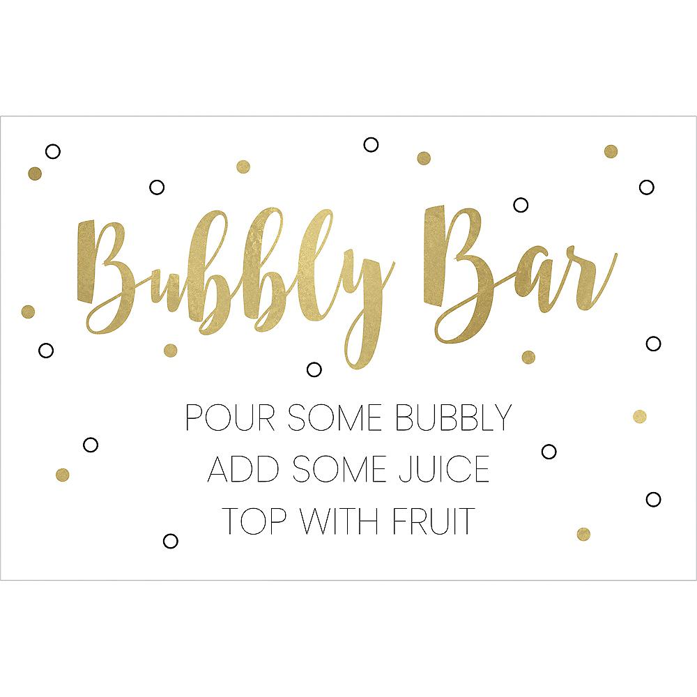 Gold & White Mimosa Bar Kit 10pc Image #6