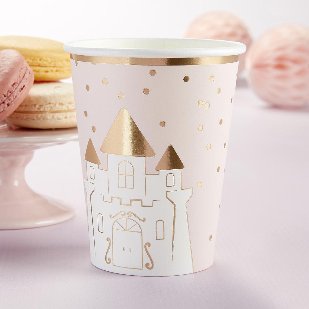 Metallic Rose Gold & Pink Princess Cups 32ct Image #3