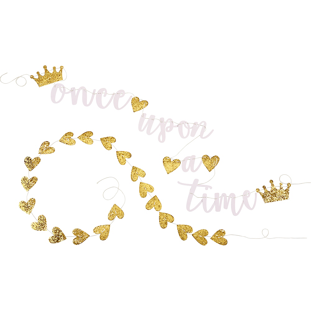Once Upon A Time Letter Banner with Garland Image #2