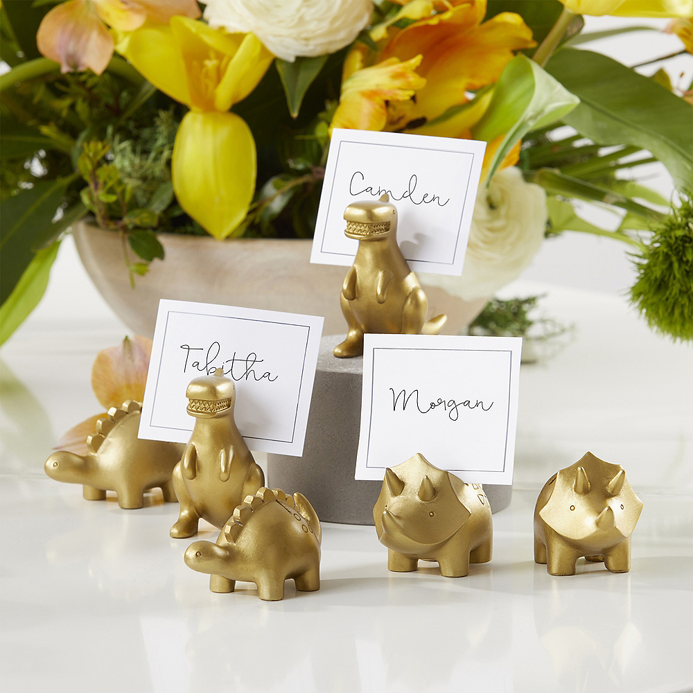 Gold Dinosaur Place Card Holders 6ct Image #3