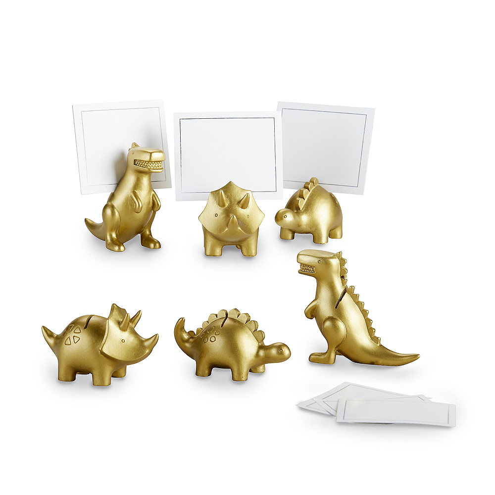 Gold Dinosaur Place Card Holders 6ct Image #4