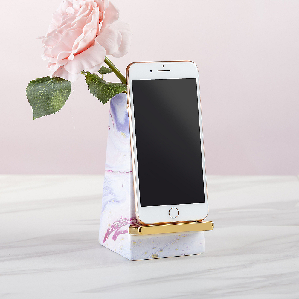Gold & Marble Phone Stand Image #1