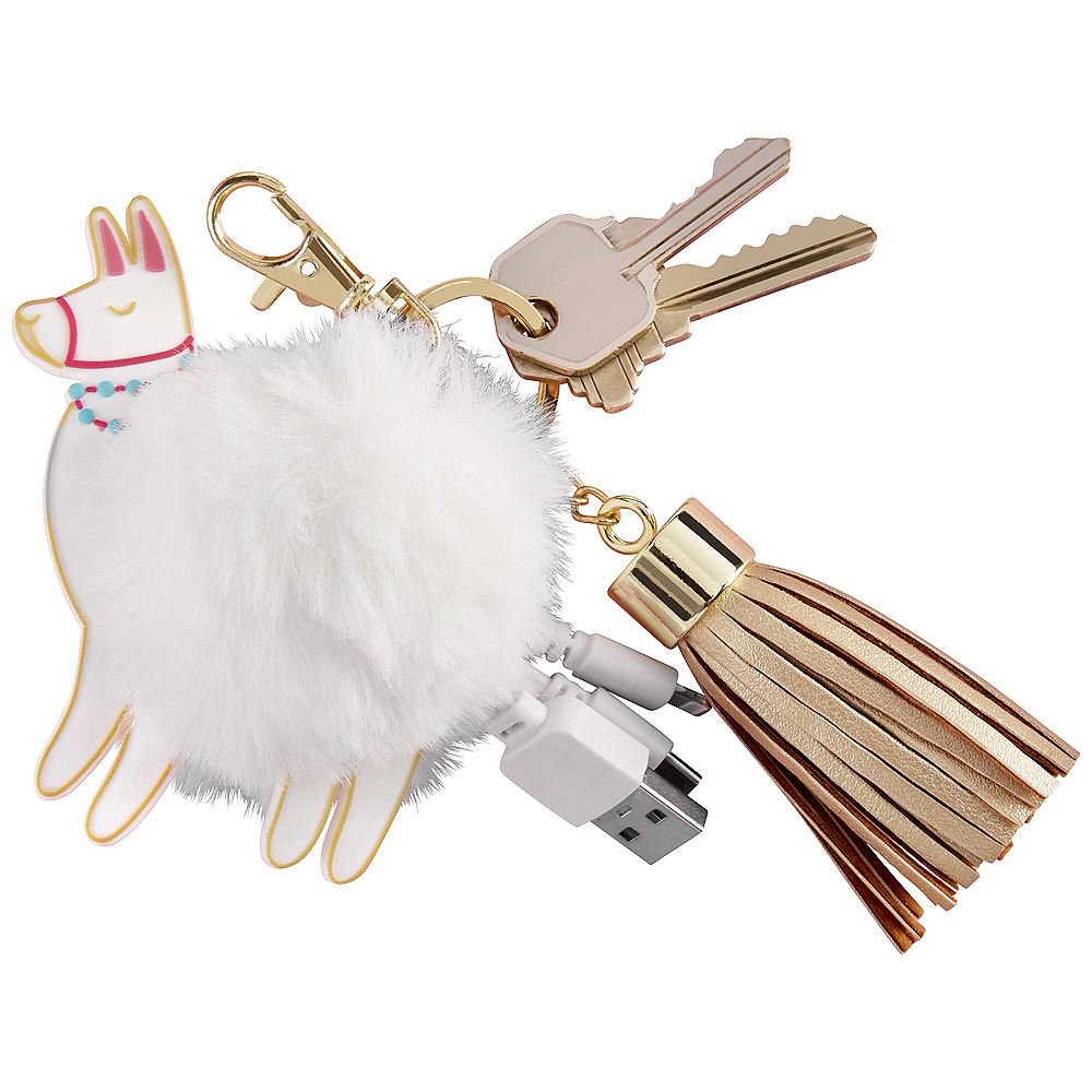 Llama USB Keychain Charger Image #1