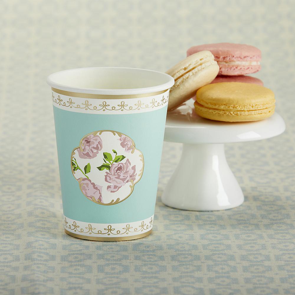 Tea Time Blue Floral Cups 32ct Image #1