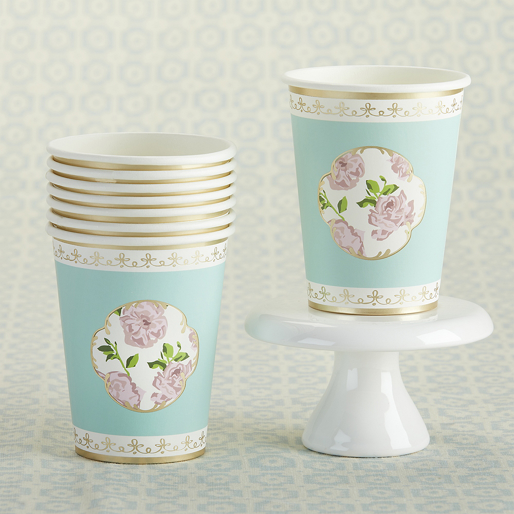 Tea Time Blue Floral Cups 32ct Image #2