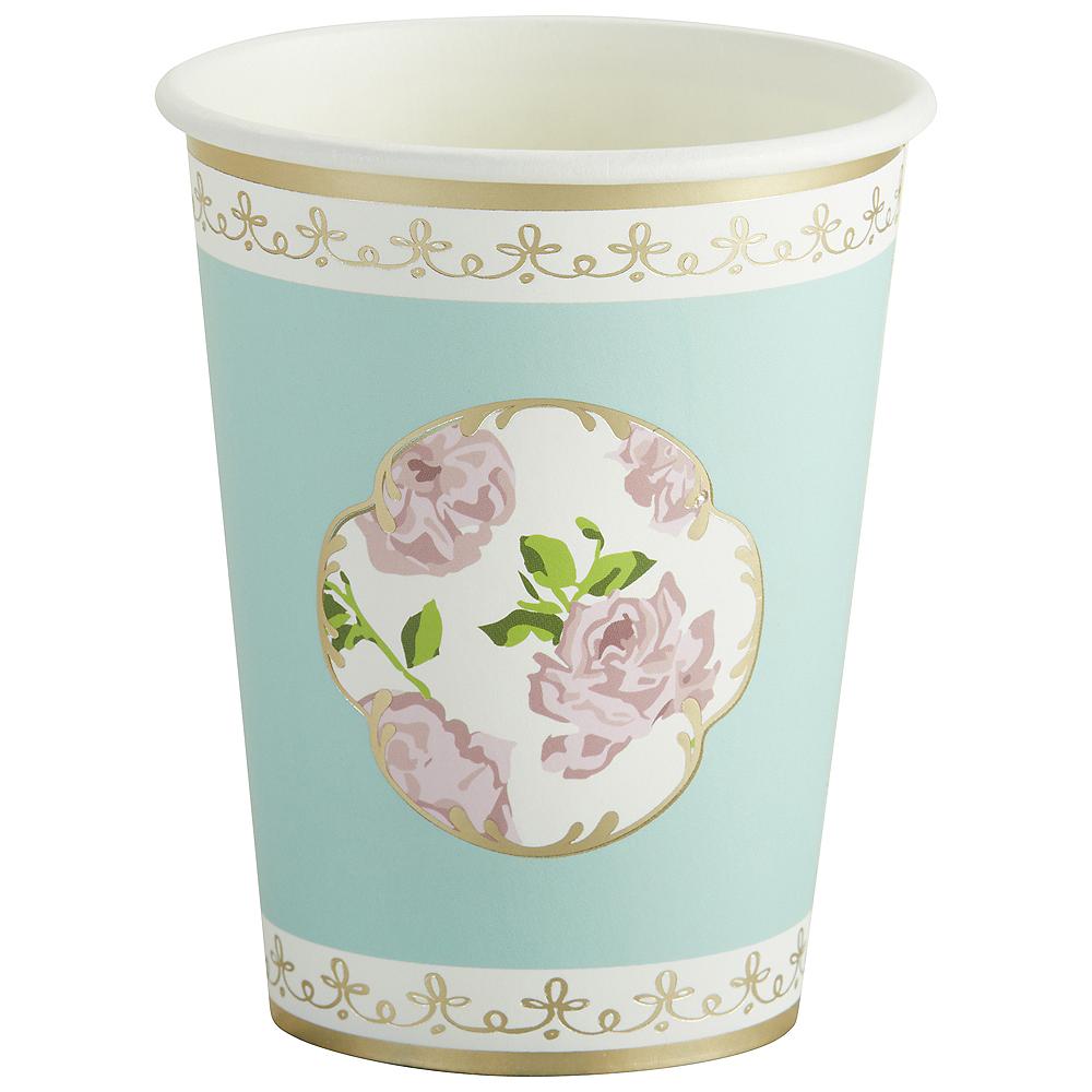 Tea Time Blue Floral Cups 32ct Image #3