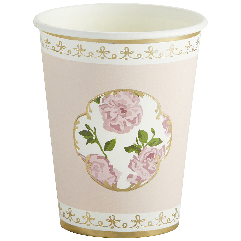 Tea Time Pink Floral Cups 32ct Image #3
