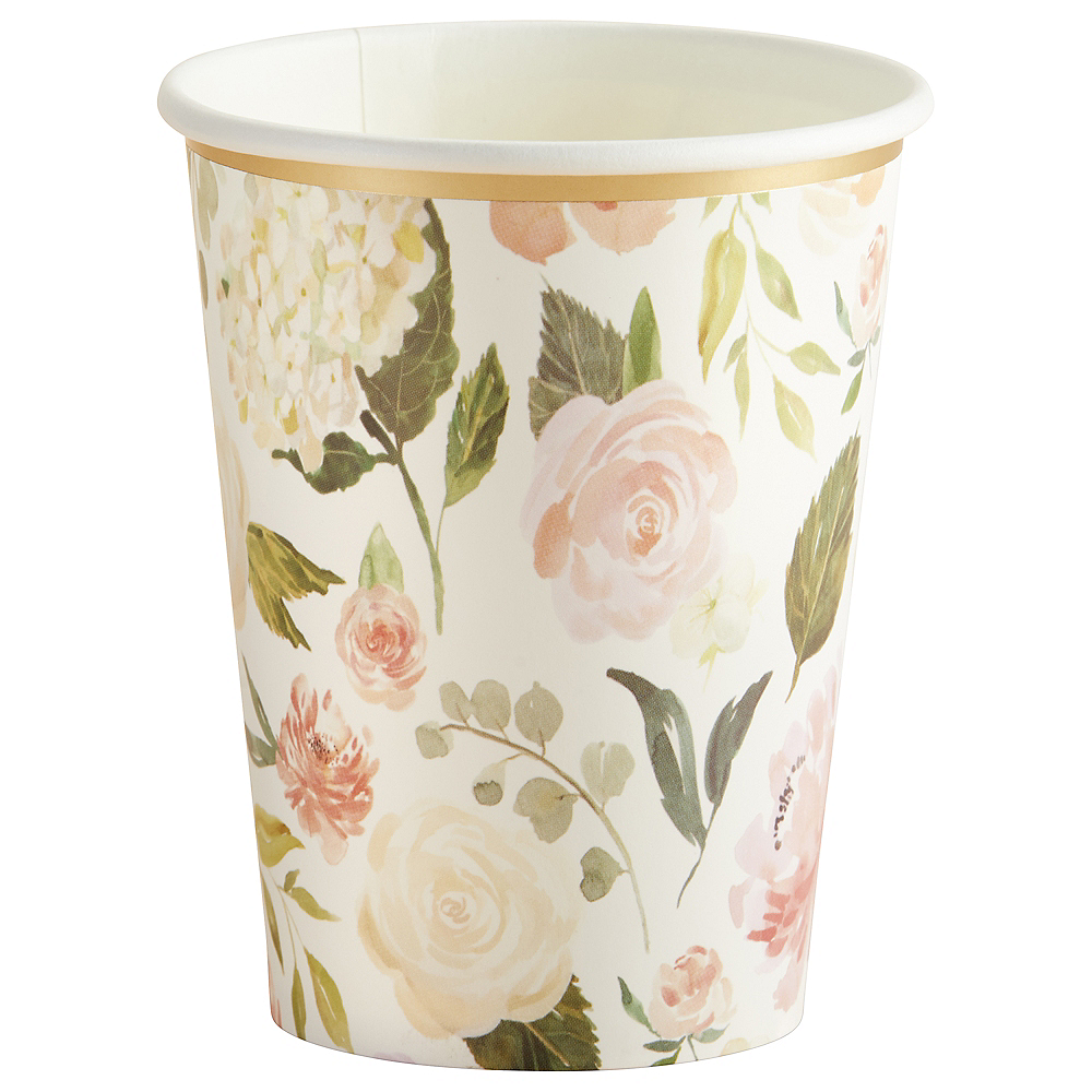 Soft Pink Floral Cups 32ct Image #3