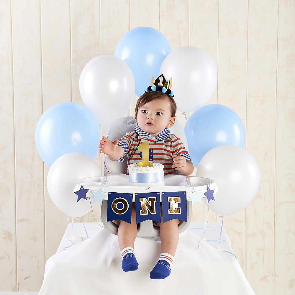 Blue & Gold 1st Birthday Smash Cake Kit Image #1