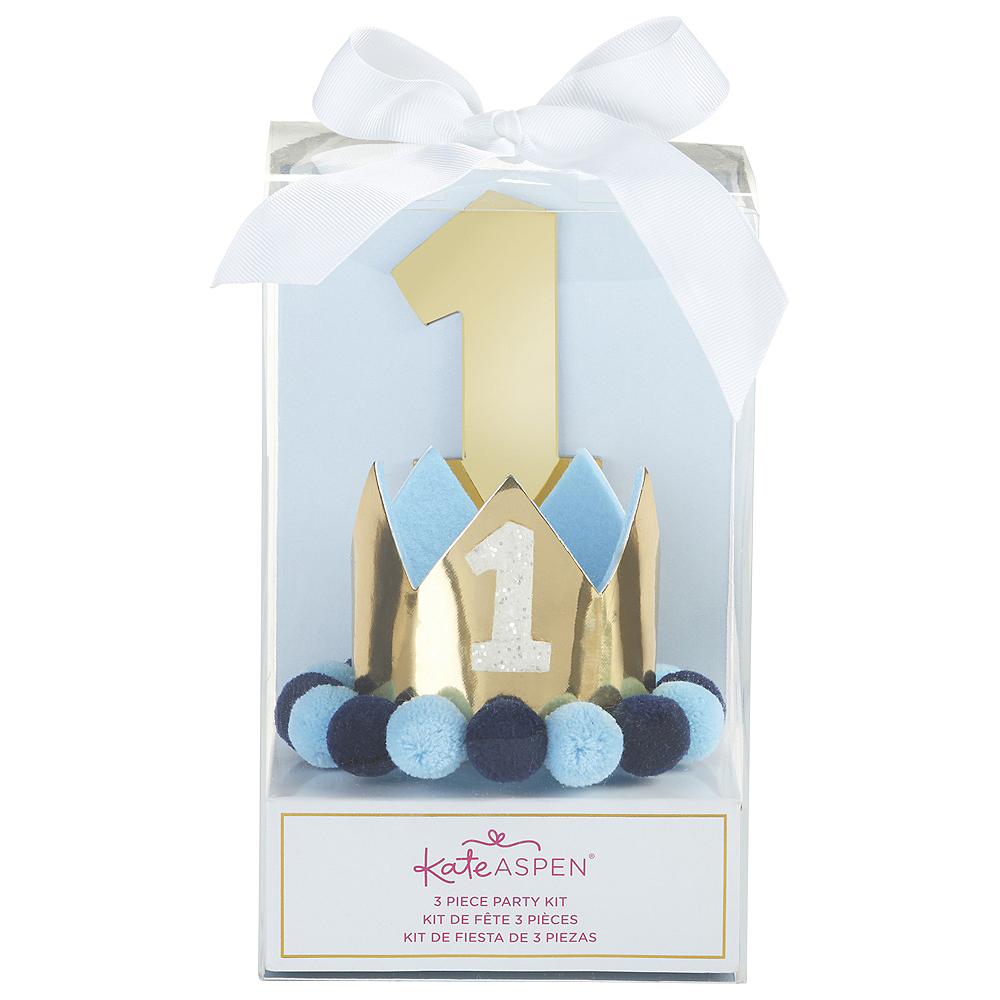 Blue & Gold 1st Birthday Smash Cake Kit Image #3