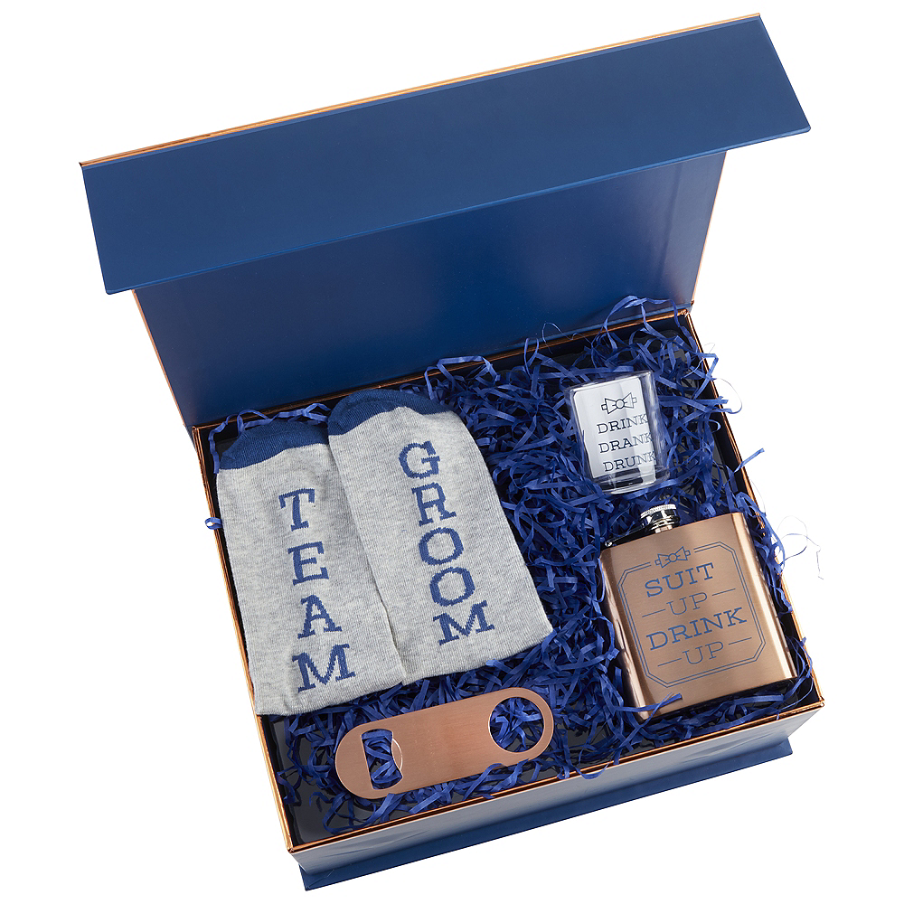 Copper & Navy Will You Be My Groomsman Kit 4pc Image #1