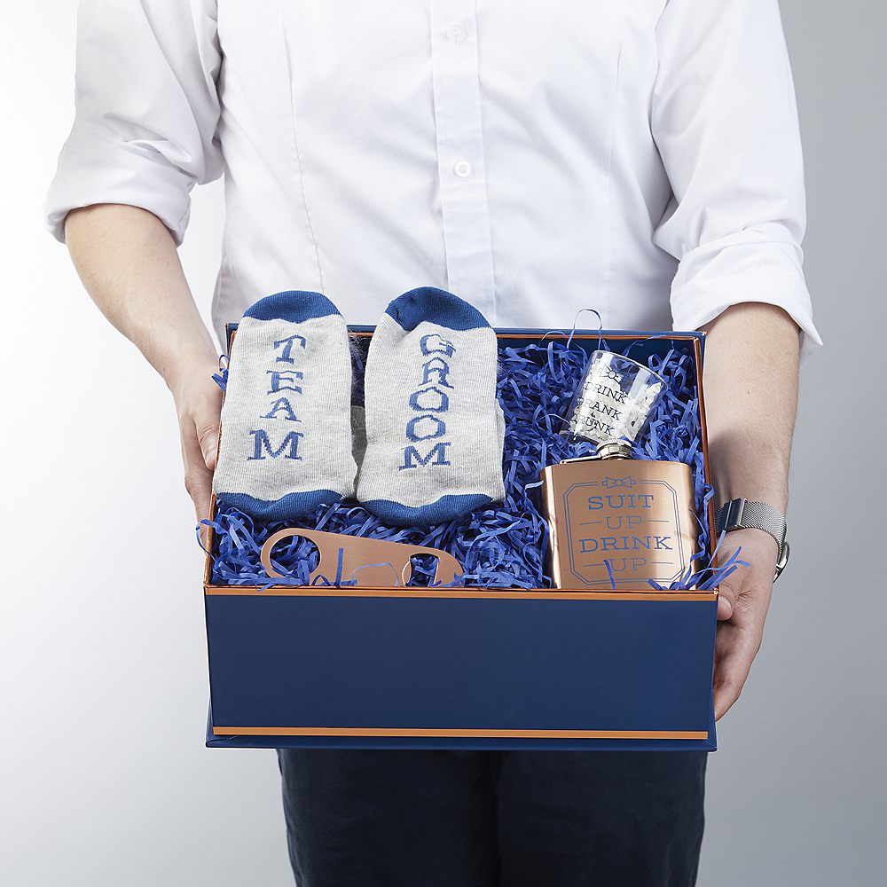 Copper & Navy Will You Be My Groomsman Kit 4pc Image #3