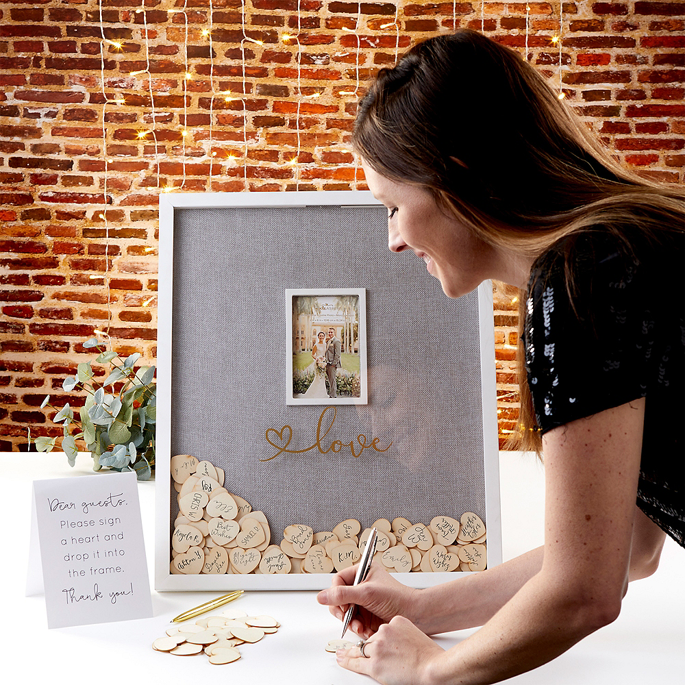 Love Guest Book Frame 102pc Image #1