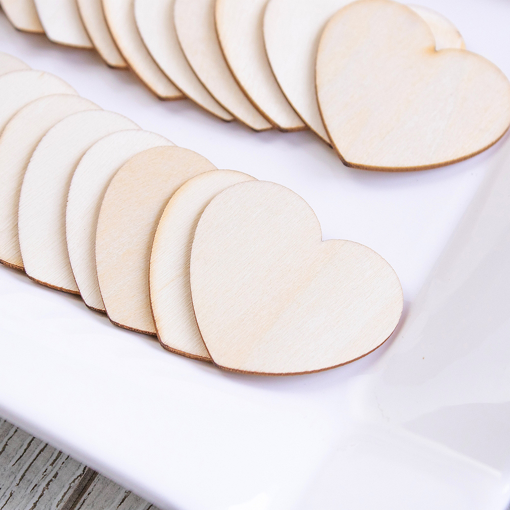 Additional Wooden Hearts for Guest Book Alternative 75ct Image #3
