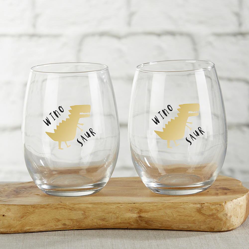 Winosaur Stemless Wine Glasses 4ct Image #1