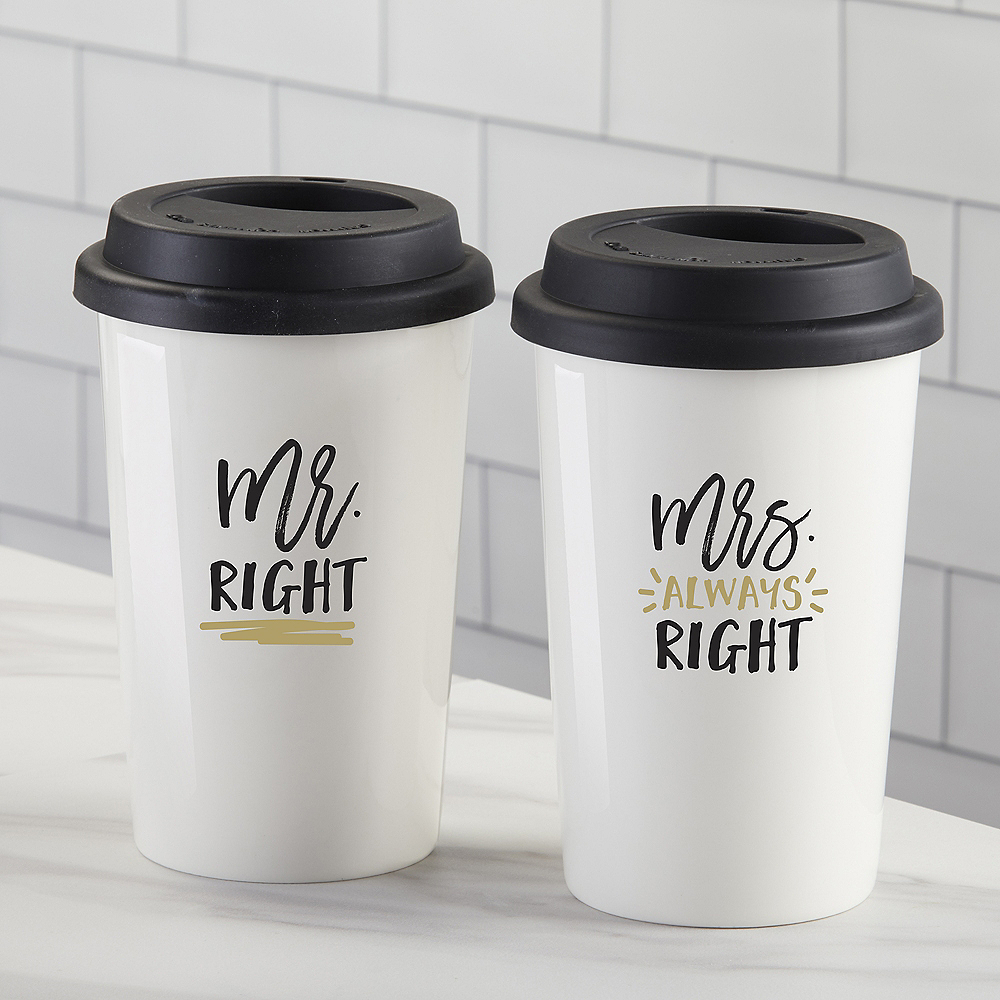 Mr. Right & Mrs. Always Right Travel Mugs 2ct Image #1