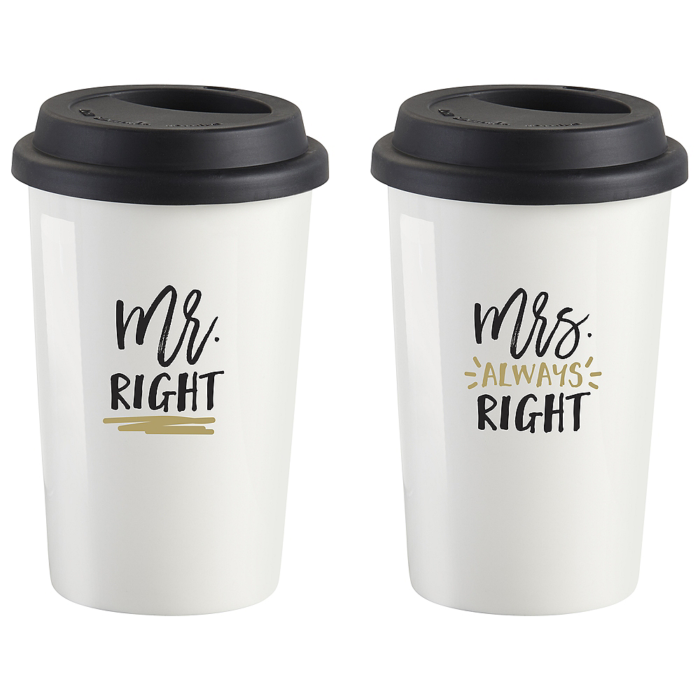 Mr. Right & Mrs. Always Right Travel Mugs 2ct Image #2