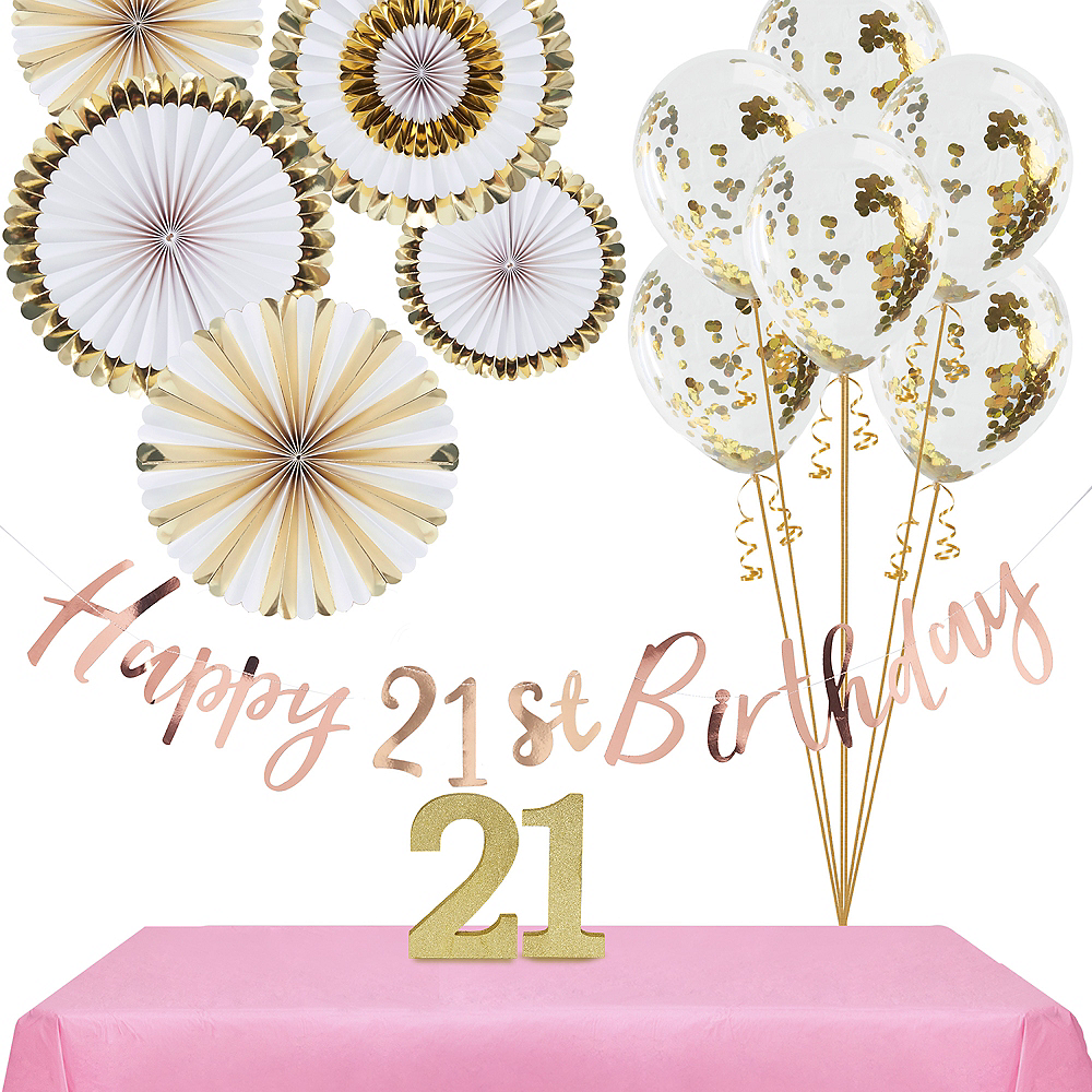 Ginger Ray Metallic Gold 21st Birthday Decorating Kit Image #1