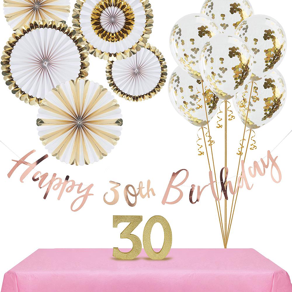 Ginger Ray Metallic Gold 30th Birthday Decorating Kit Image #1