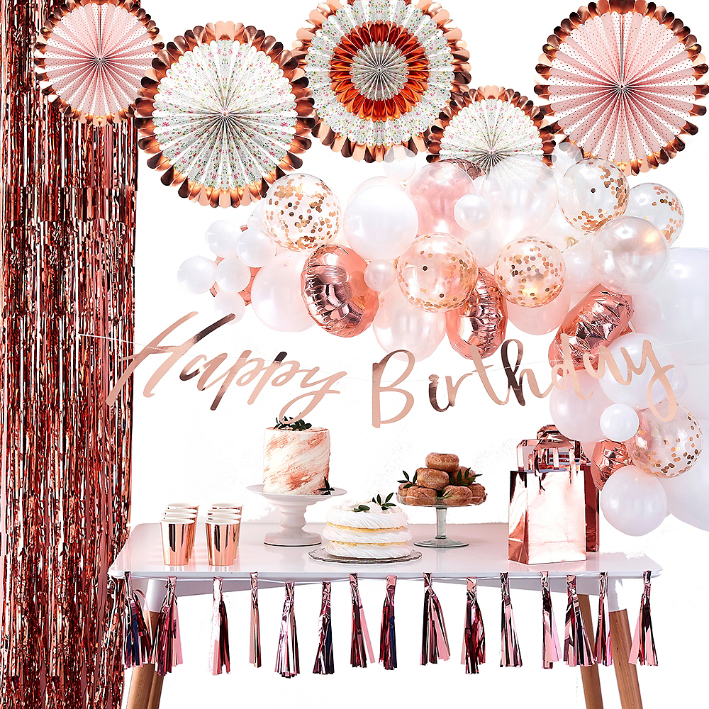 Super Ginger Ray Metallic Rose Gold Decorating Kit Image #1
