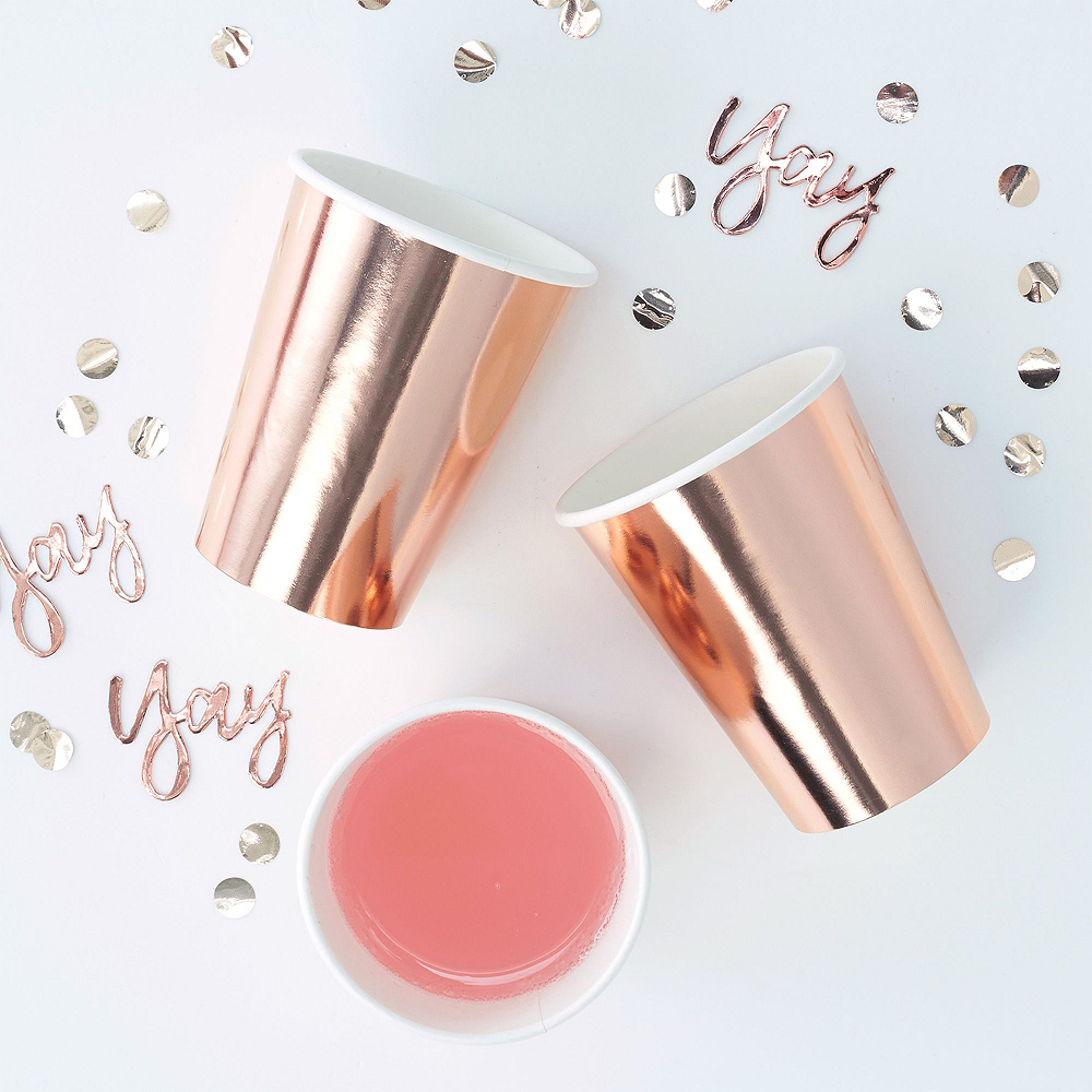Ginger Ray Metallic Rose Gold Party Kit for 16 Guests Image #4