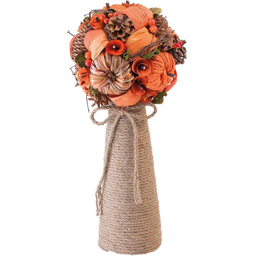 Pinecone & Pumpkin Bouquet Centerpiece Image #1