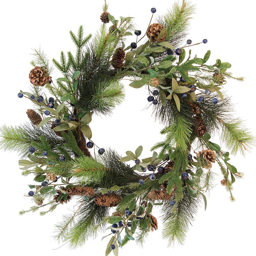 Large Blueberry & Pinecone Wreath Image #1