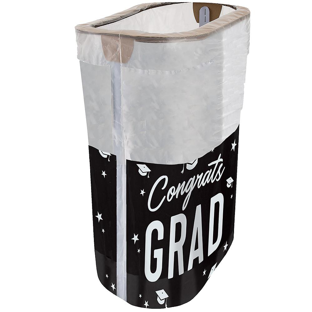 Black & White Congrats Graduation Pop-Up Trash Bin Image #1