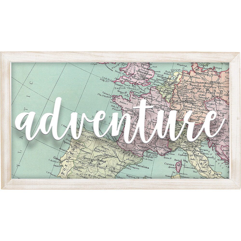 The World Awaits Adventure Sign Image #1