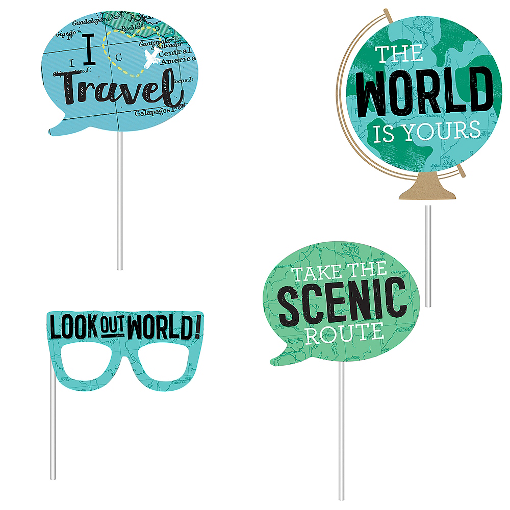 The World Awaits Graduation Scene Setter with Photo Booth Props Image #3