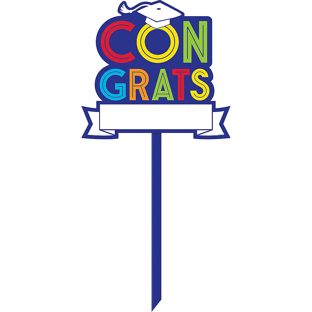 Customizable Navy Awesome Graduation Yard Sign Image #1