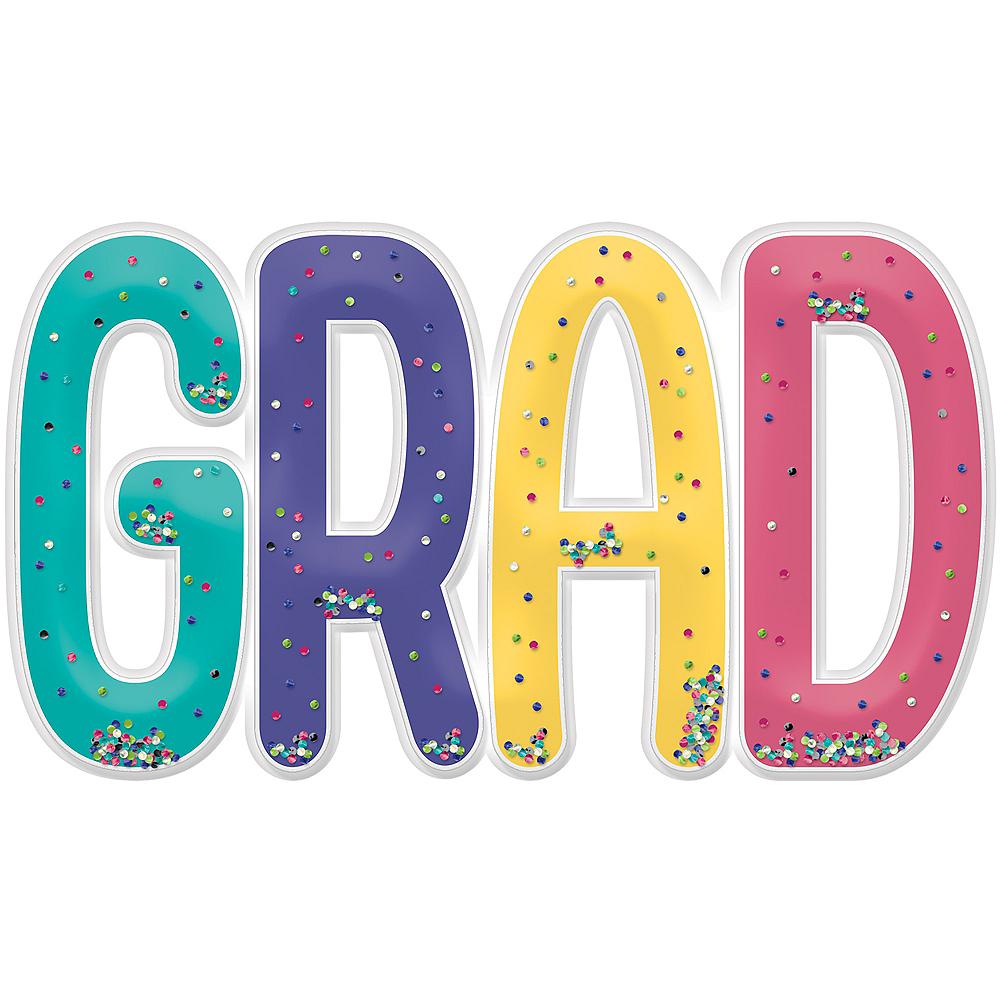 Jumbo Multicolor Confetti Shake Grad Photo Prop Image #1