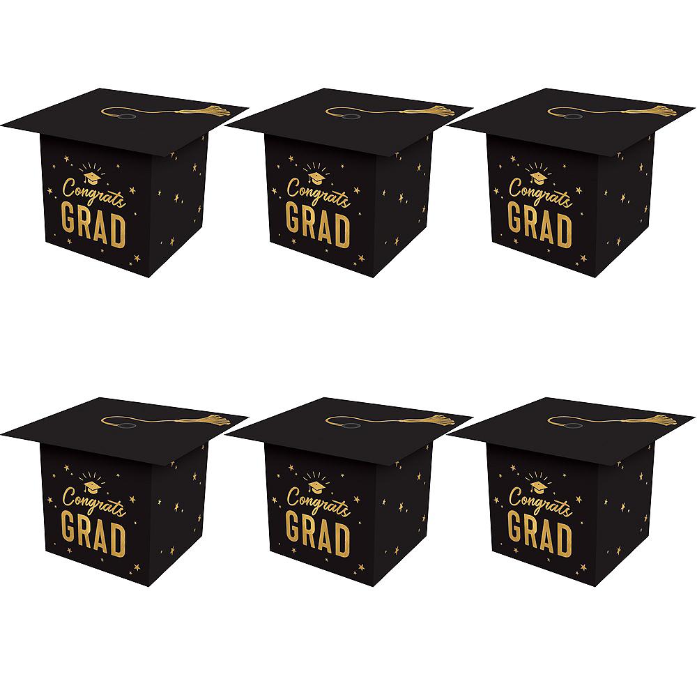 Mini Grad Cap Favor Boxes, 6ct Image #1