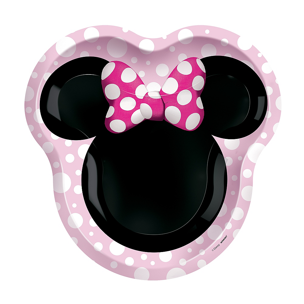 Shaped Minnie Mouse Forever Lunch Plates, 8ct Image #1
