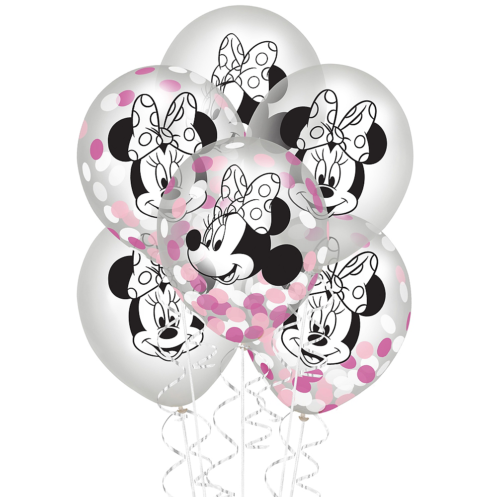 Nav Item for Minnie Mouse Forever Confetti Balloons 6ct Image #1