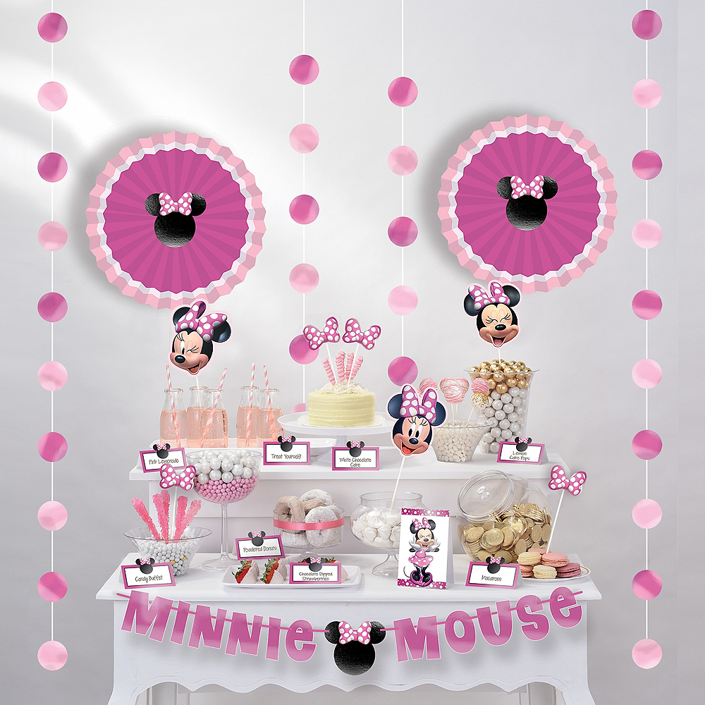Nav Item for Minnie Mouse Forever Buffet Decorating Kit 23pc Image #1