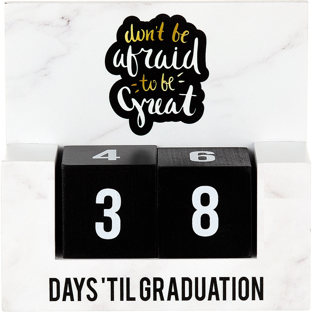 Graduation Countdown Blocks Table Decoration Image #1