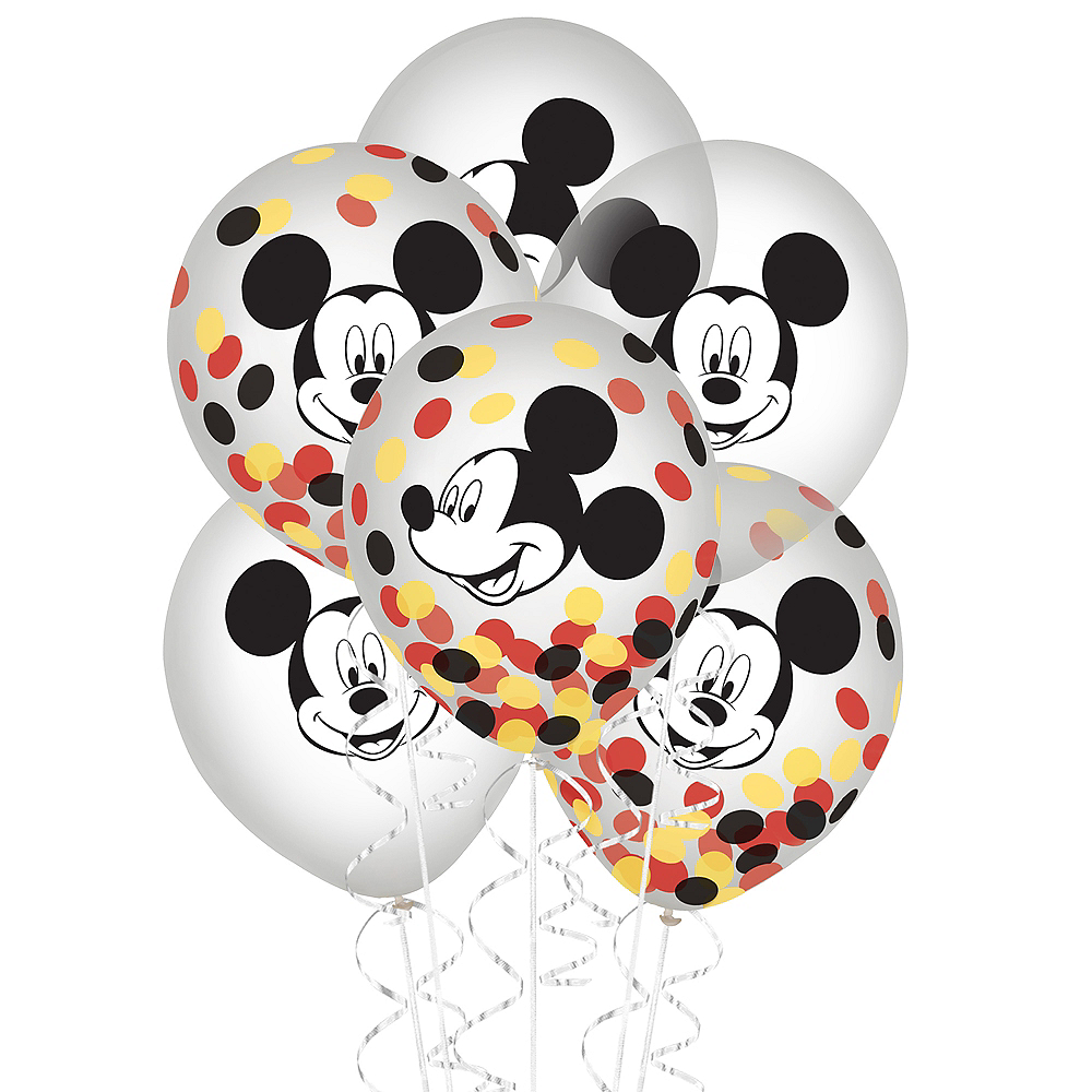 Mickey Mouse Forever Confetti Balloons 6ct Image #1