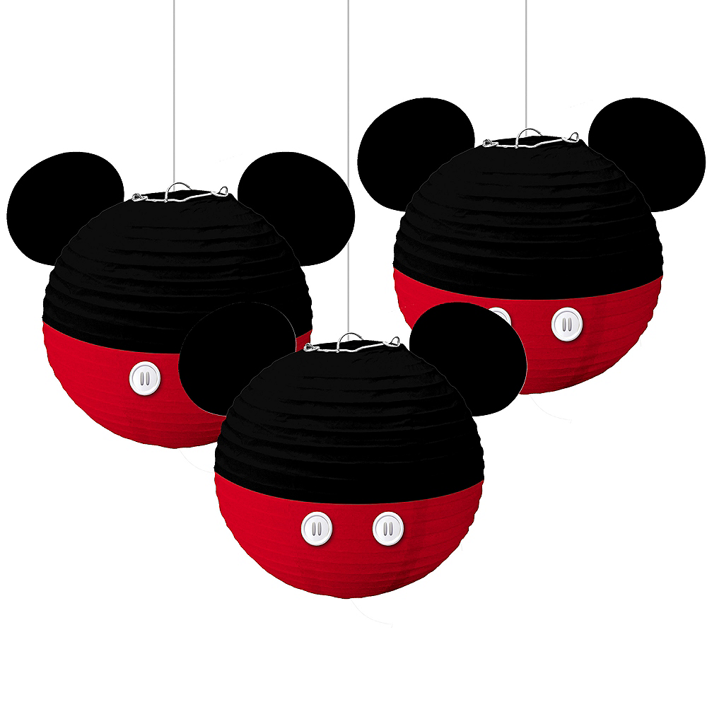Mickey Mouse Forever Paper Lanterns 3ct Image #1