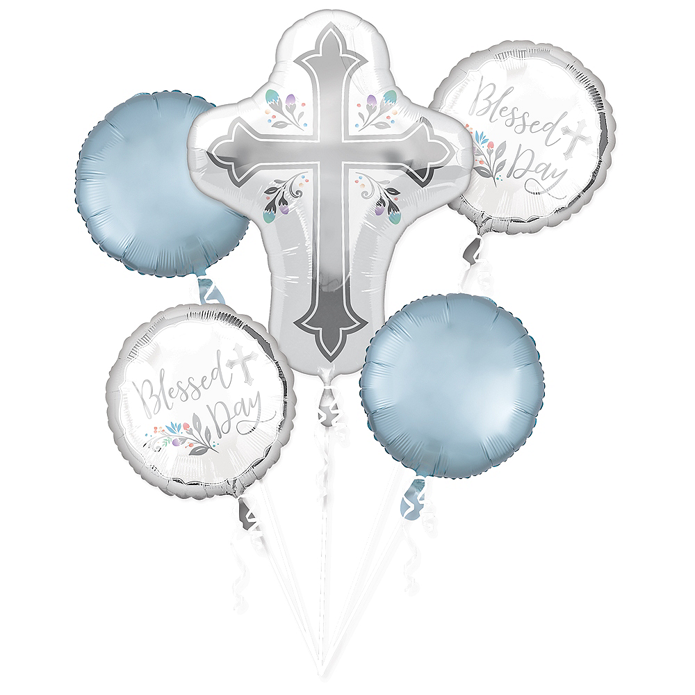 Holy Day Balloon Bouquet 5pc Image #1