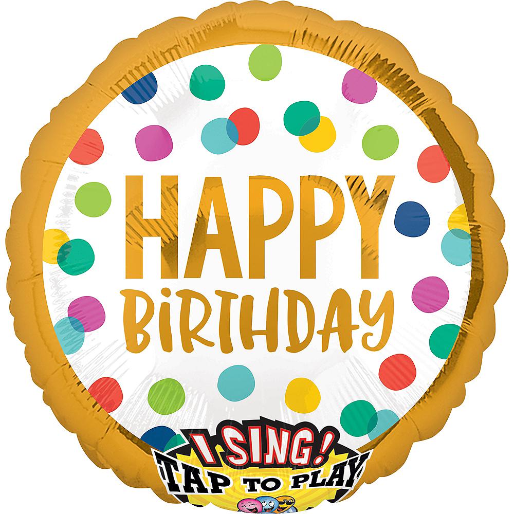 Giant Singing Happy Birthday Dots Balloon Image #1