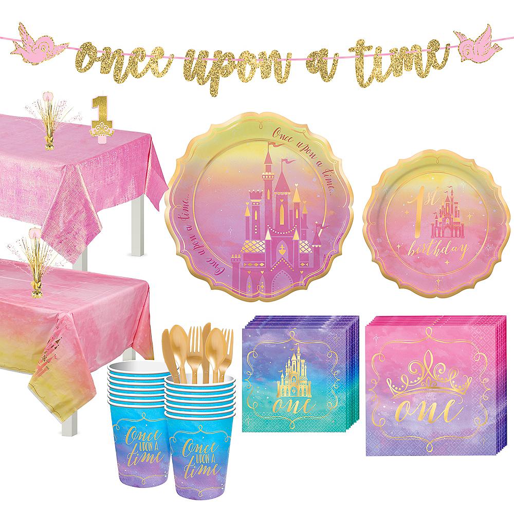Disney Princess 1st Birthday Tableware Kit for 16 Guests Image #1