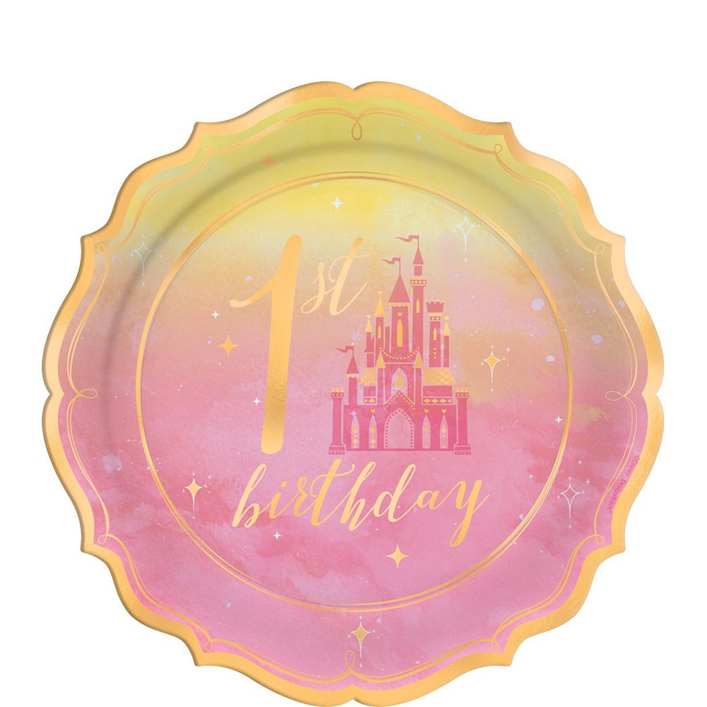Disney Princess 1st Birthday Tableware Kit for 16 Guests Image #2
