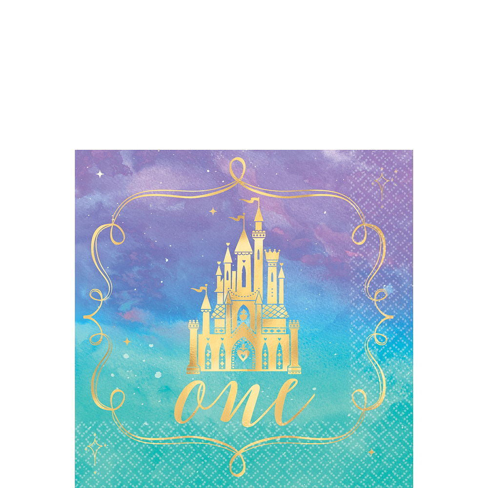 Disney Princess 1st Birthday Tableware Kit for 16 Guests Image #4