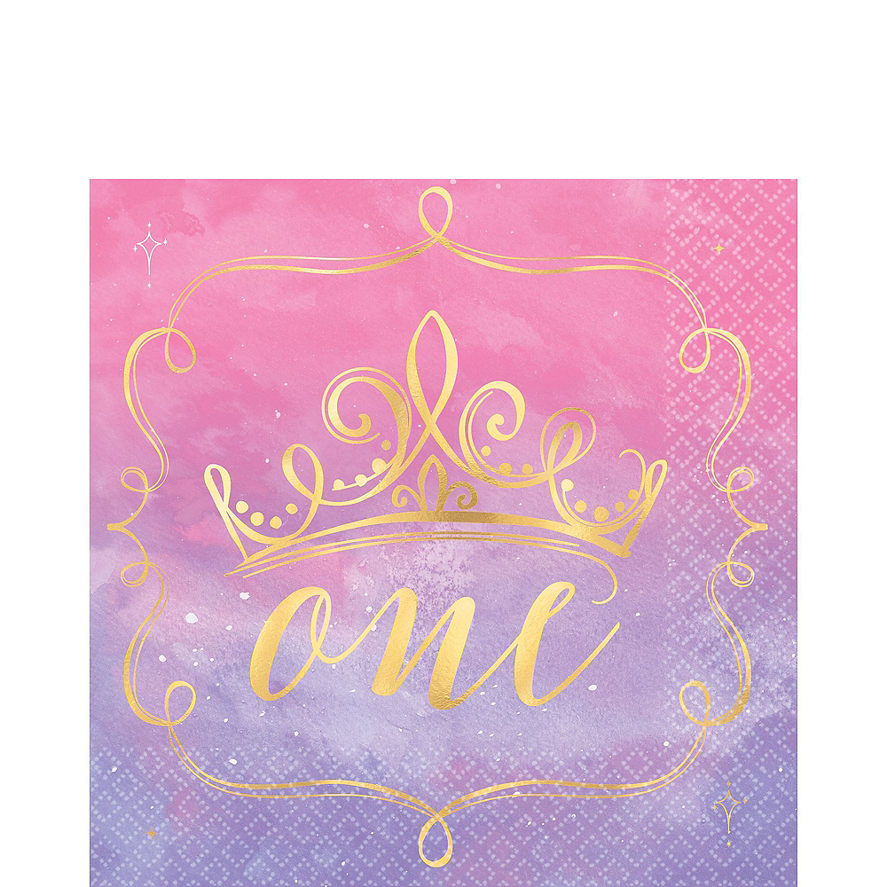 Disney Princess 1st Birthday Tableware Kit for 16 Guests Image #5