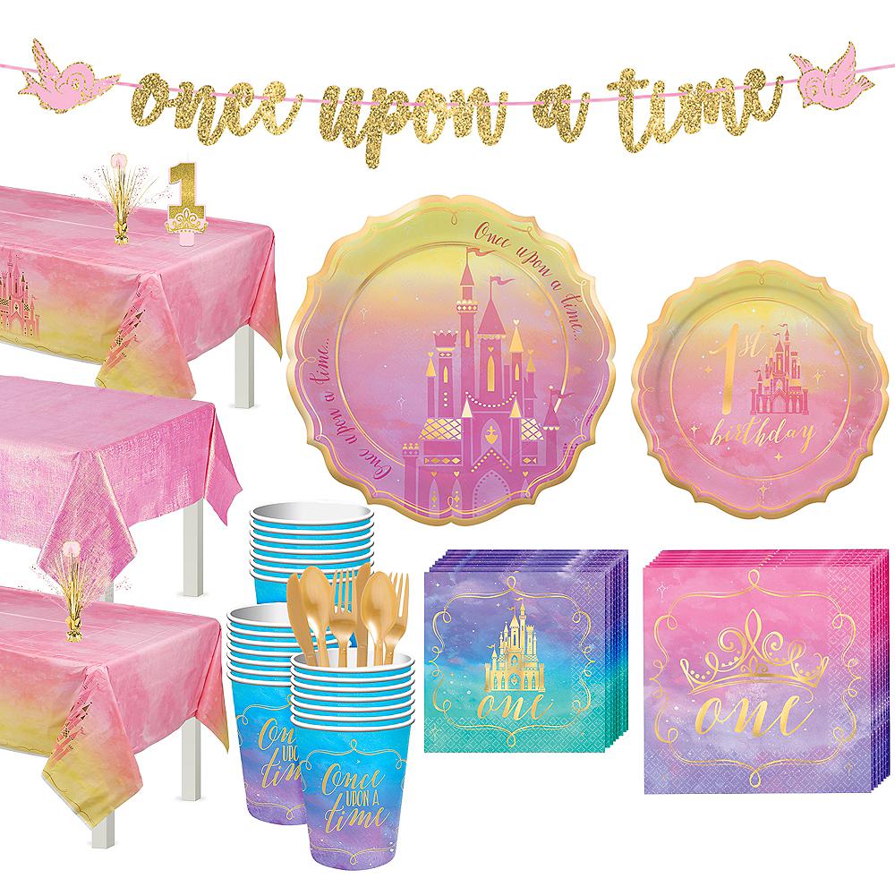 Disney Princess 1st Birthday Tableware Kit for 24 Guests Image #1